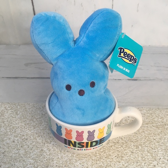 Peeps Blue Bunny in Mug Inside We are All the Same